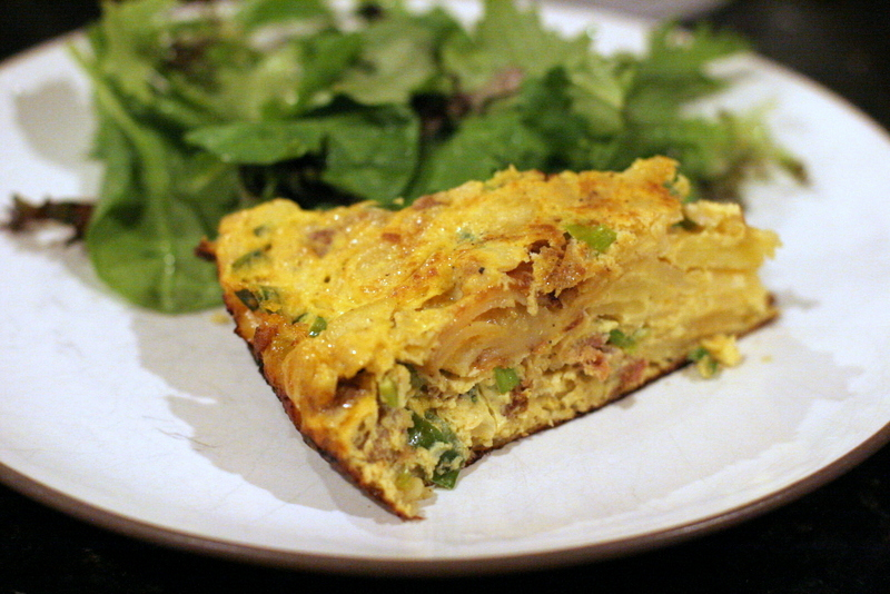 Spanish Tortilla With Chorizo And Scallions Jackie Reeve