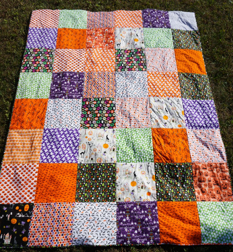 Halloween Quilt Is Finished!